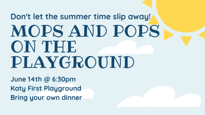 MOPS & POPS Picnic on the Playground